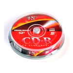 Диск CD-R VS, 700Mb 52x cakebox, 10 шт. в упак