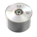 Диск CD-R VS, 700Mb 52x bulk, 50 шт. в упак