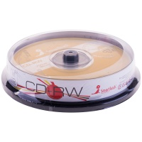 Диск CD-RW 700Mb Smart Track 4-12x Cake Box, 10 шт упак