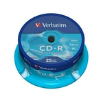 Диск CD-R 700Mb 52x CakeBox CD-R Extra Protection Verbatim 43432 0704-03 25 шт. 84121
