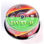 Диск DVD+R VS 4.7Gb 16x, Cakebox, 25 шт. в упак