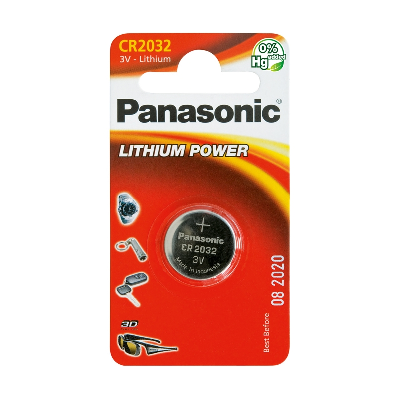 Батарейки Panasonic Lithium Power CR2032 BL1, 3V