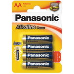Батарейки Panasonic Alkaline Power АА LR6 A316 BL4, 1,5V
