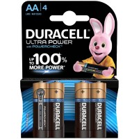 Батарейки Duracell UltraPower AA LR06, алкалиновая, BL4 1,5V 1 шт