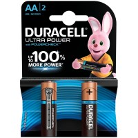 Батарейки Duracell UltraPower AA LR06, алкалиновая, BL2 1,5V 1 шт