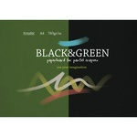Альбом для пастелей Kroyter Black and Green А4, черный и зеленый, 10 листов