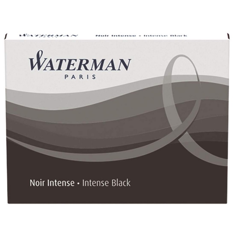 Капсулы WATERMAN Cartridge Size Standard 8 шт., цвет черный