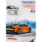 Калька под тушь и карандаш MEGA Engineer А3, 40 л